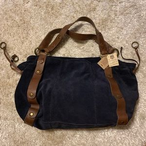 BRAND NEW NAVY SUEDE LUCKY BRAND BAG